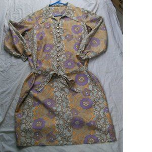 Vintage Homemade Paisley & Floral Dress